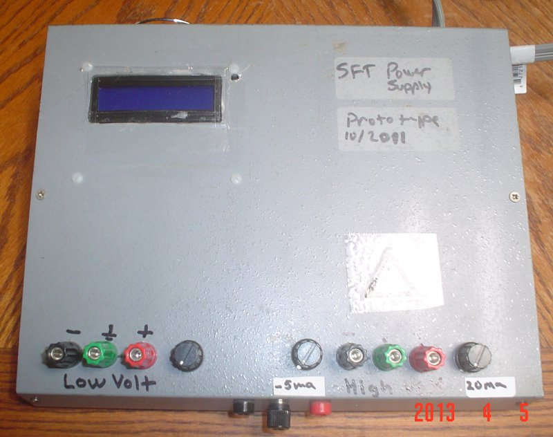 A photograph of the completed prototype