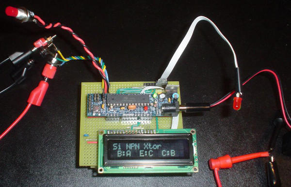 First prototype, Nov 9, 2011 (board underneath is not visible)